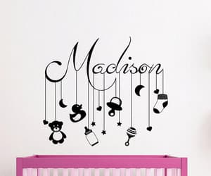 etsy, wall decal, and baby girl nursery image