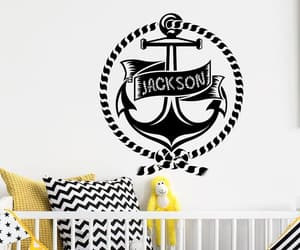 etsy, wall decal for kids, and custom name image