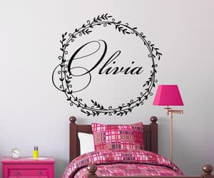 etsy, nursery name decal, and girl name image