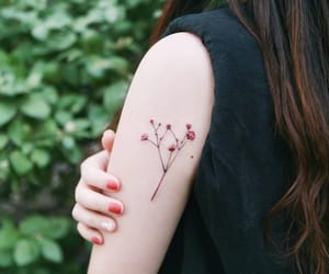 arm, body art, and floral image