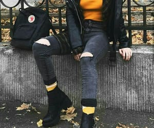 autumn, clothes, and black image