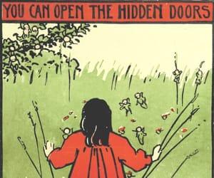 door, art, and hidden image