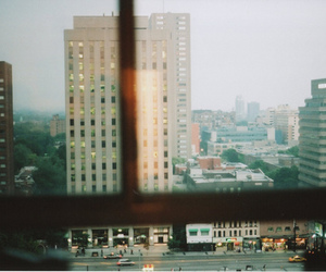 city, window, and photography image