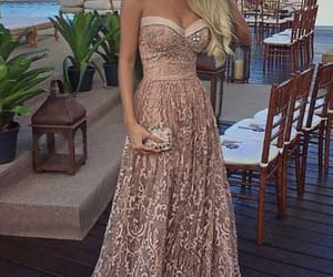 prom dresses, champagne prom dress, and a-line prom dress image