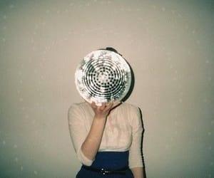 girl, disco, and disco ball image