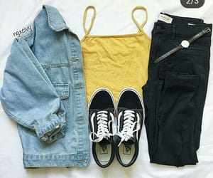 outfit, yellow, and clothes image