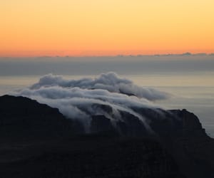cape town, clouds, and mountains image