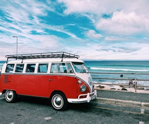 bus, car, and sea image