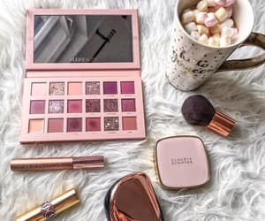 coffee, highlighter, and make up image