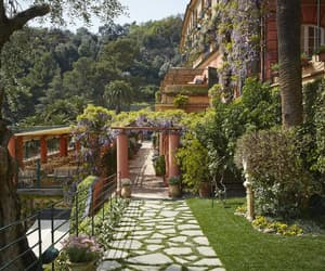 flowers, gardens, and hotel image