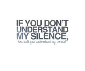 heart, quote, and silence image