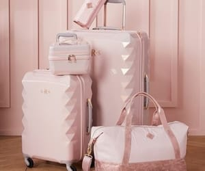 pink, handbag, and travel image