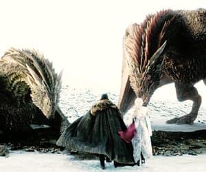 dragons, fantasy, and snow image