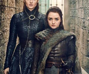 game of thrones, arya stark, and sansa stark image