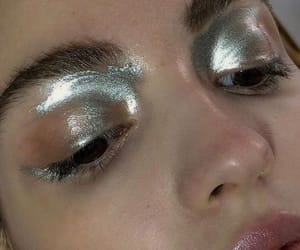 makeup, silver, and eyeshadow image