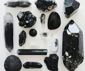 black, crystal, and stone image
