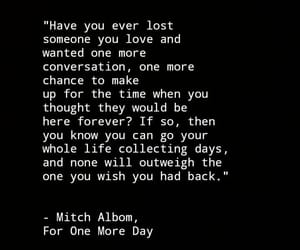 book, mitch albom, and for one more day image