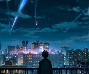 anime, sky, and your name image