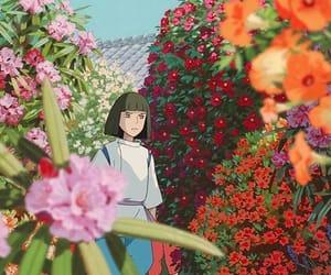 anime, spirited away, and flowers image