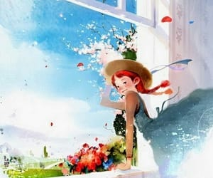 girl and spring image