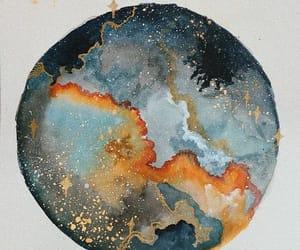 art, stars, and paint image