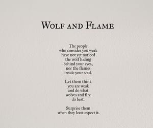 quotes, wolf, and flame image