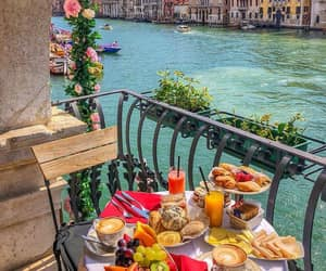 venice, breakfast, and flowers image