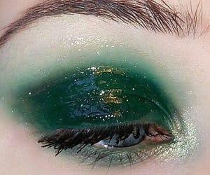 green, makeup, and eyes image