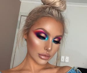 beauty, girls, and makeup image