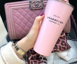 chanel, pink, and starbucks image