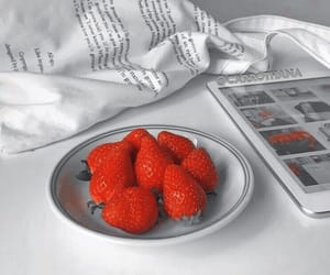 aesthetic, strawberry, and white image