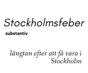 quote, stockholm, and swedish image
