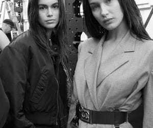 girl, bella hadid, and black and white image