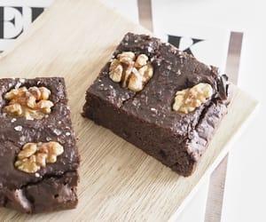 brownie, salt, and brownies image