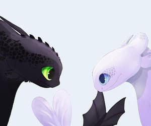 toothless, night fury, and httyd image