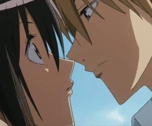 anime, gif, and kiss image