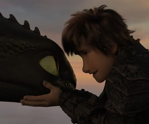 animation, hiccup, and light fury image