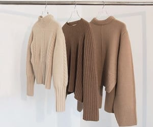 fashion, beige, and sweater image
