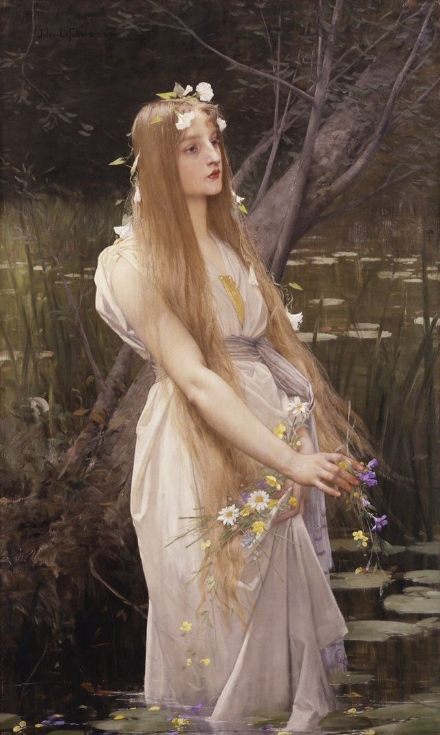ophelia, painting, and art image