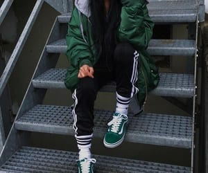 green, fashion, and vans image