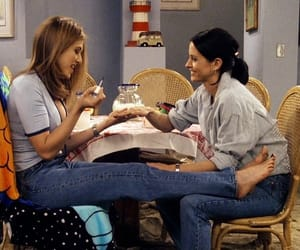 friends, rachel, and monica image