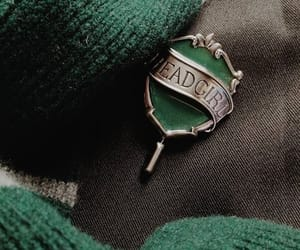 green, hogwarts, and slytherin image