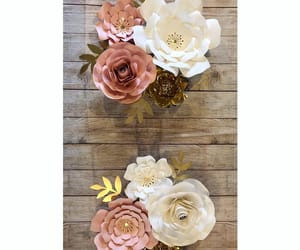 baby, decorations, and paper roses image