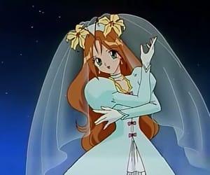 anime, mahou shoujo, and bride image