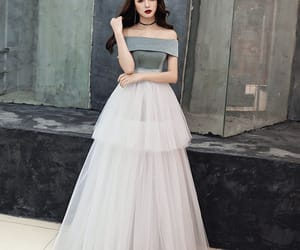 beautiful dress, evening dress, and tulle image