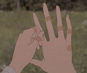 anime, aesthetic, and hands image