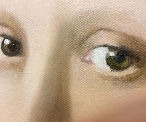 eyes, girl with pearl earring, and Oil Painting image