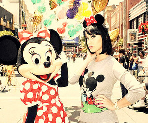 katy perry, disney, and minnie mouse image