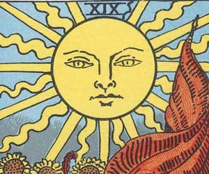 sun, tarot, and card image