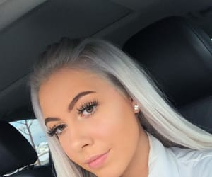 blonde, eyebrows, and falsies image